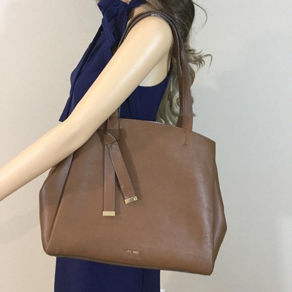 4a6985b38 Nine West Bags | Gaya Large Tote In Bourbon | Poshmark